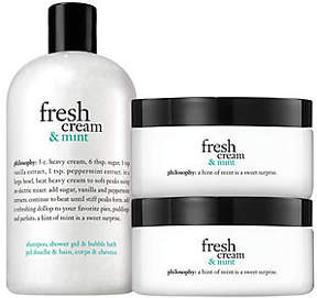 philosophy Fresh Cream & Mint Shower Gel Andsouffle Duo