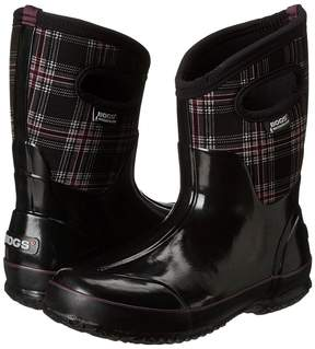 Bogs Classic Winter Plaid Mid Women's Pull-on Boots