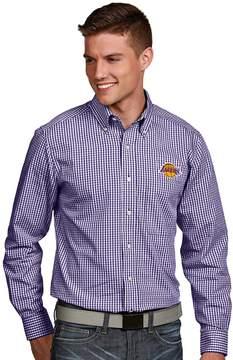 Antigua Men's Los Angeles Lakers Associate Plaid Button-Down Shirt