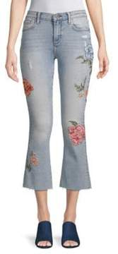 Driftwood Roxy Rosey Embroidered Flared Jeans