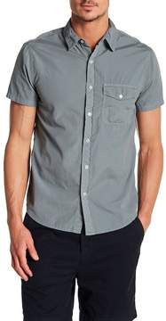 Save Khaki Poplin Short Sleeve Classic Fit Shirt