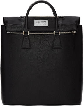 Maison Margiela Black Exposed Lining Tote Bag