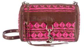 Rebecca Minkoff Woven Leather M.A.C. Crossbody Bag - BROWN - STYLE