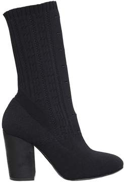 Elena Iachi 90mm Stretch Knit Sock Ankle Boots