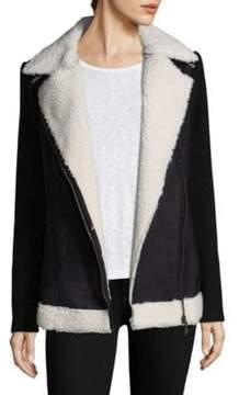 Design History Faux Fur Sleeve Jacket