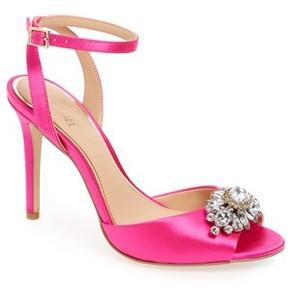 Badgley Mischka Women's Hayden Embellished Ankle Strap Sandal