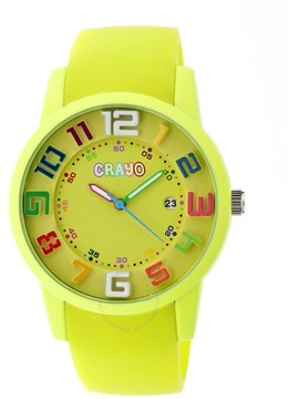 Crayo Festival Lime Dial Lime Silicone Unisex Watch