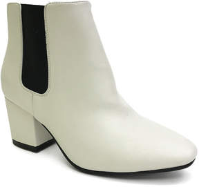 Bamboo White Cream Upscale Bootie - Women