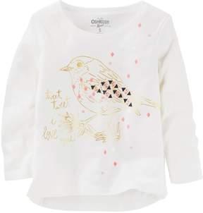Osh Kosh Oshkosh Bgosh Girls 4-8 Tweet Tweet Bird Graphic Tee