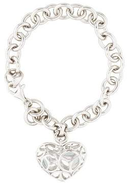Di Modolo Medallion Silver & Topaz Heart Bracelet