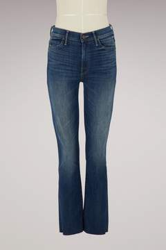 Mother The Rascal high-waisted straight-cut jeans