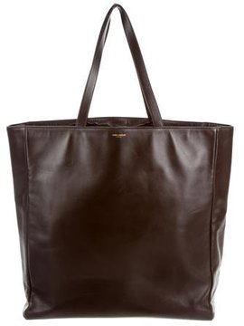 Saint Laurent Leather Museum Tote - BROWN - STYLE