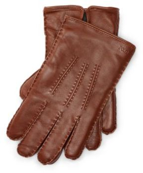 Ralph Lauren Leather Touch Screen Gloves Snuff M