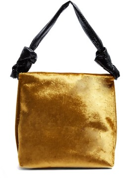 The Row Wander Small Velvet And Python Shoulder Bag - Womens - Gold