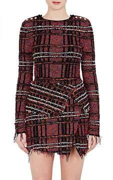 Balmain Women's Fringed Tweed Top