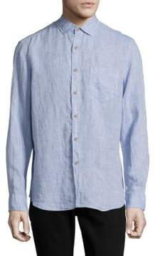 Report Collection Long-Sleeve Casual Linen Shirt