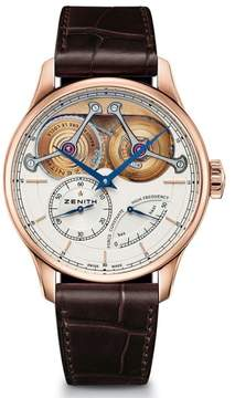 Zenith Chaine Fusee Jacot 182210481001C713 18K Rose Gold 45mm Mens Watch