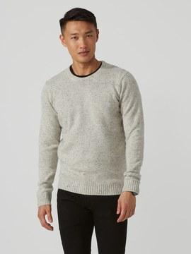 Frank and Oak Wool-Blend Donegal Sweater in Light Beige