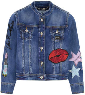 Philipp Plein Jean jacket with fancy patches