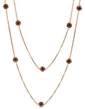 Effy Final Call Smoky Quartz & 14K Rose Gold Station Necklace