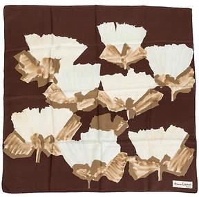 One Kings Lane Vintage Jeanne Lanvin Silk Floral Scarf - Vintage Lux