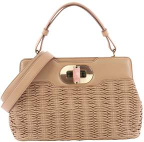 Bulgari Pink Leather Handbag