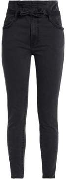 Current/Elliott Tie-Front High-Rise Skinny Jeans