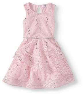 Speechless Lots Of Love By Little Girls' 4-6X Tiered Dress