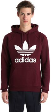 adidas Trefoil Printed Hooded Cotton Sweatshirt