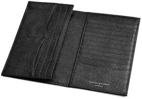 Aspinal of London Large Breast Pocket Wallet In Black Saffiano