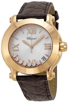 Chopard Happy Sport II 18k Rose Gold Diamond Watch