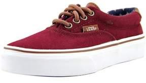 Vans Era 59 Youth Round Toe Canvas Burgundy Skate Shoe.