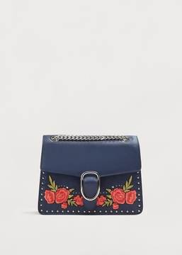Violeta BY MANGO Floral embroidery bag