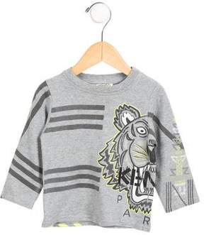 Kenzo Boys' Long Sleeve Logo Printed Shirt