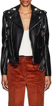 Valentino Women's Embellished Leather Moto Jacket
