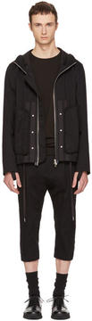 Helmut Lang Black Hooded Utility Jacket