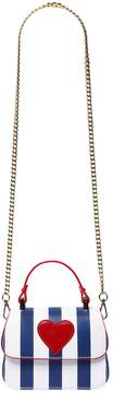 MonnaLisa Striped Leather Shoulder Bag