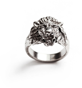 Lulu Frost George Frost G. FROST BRAVERY LION RING - WHITE BRONZE