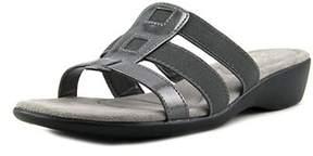 LifeStride Life Stride Talk Women Open Toe Synthetic Gray Slides Sandal.