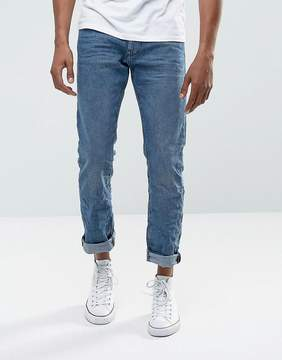 Esprit Jeans In Straight Fit Washed Blue Organic Denim