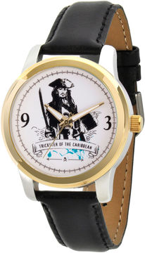 Disney Pirates of the Carribean Mens Black Strap Watch-Wds000378