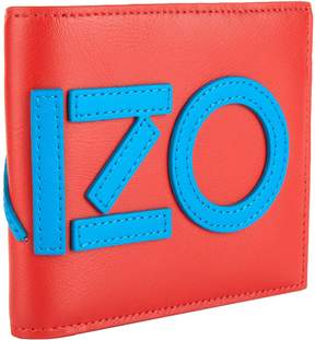 Kenzo Logo Appliqué Leather Wallet