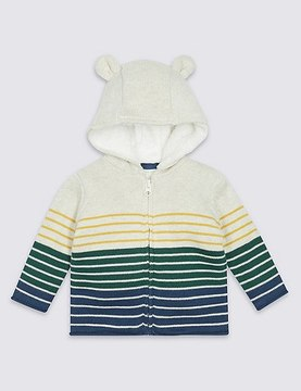 Marks and Spencer Pure Cotton Knitted Hooded Top