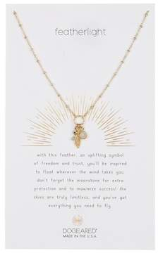 Dogeared Featherlight Cluster Charm Necklace