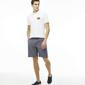 Lacoste Men's Striped Cotton Crepon Bermuda Shorts