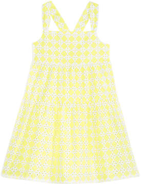 Epic Threads Little Girls Tiered Eyelet Dress, Created for Macy's
