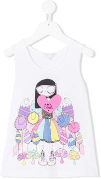 Little Marc Jacobs Miss Marc print vest top