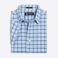 J.Crew Factory Boys' short-sleeve Thompson point-collar shirt