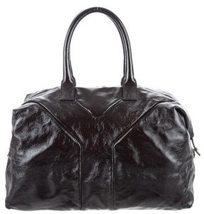 Saint Laurent Patent Leather Easy Bag - BLACK - STYLE