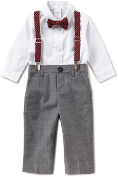 Starting Out Baby Boys 3-24 Months Button-Down Shirt, Pants, & Plaid Suspenders Set
